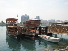 Абу-Даби. Лодки доу.